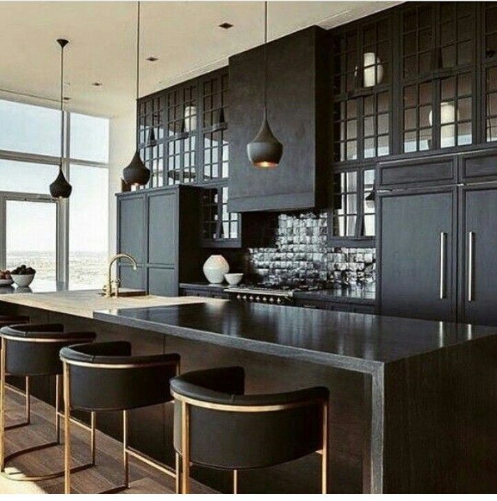 Appliance Cabinets Kitchens: Black Kitchen Cabinets/black Appliances