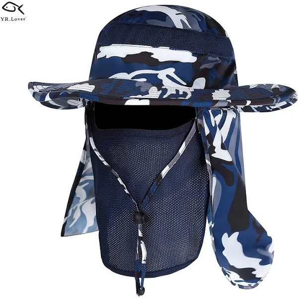 Yr Lover New Fishing Outdoor Sun Hat With Removable Neck Face Flap Fishing Hat Safari Upf 50 Uv Sun Protection Hats For Men Fishing Hats For Men Fishing Hat