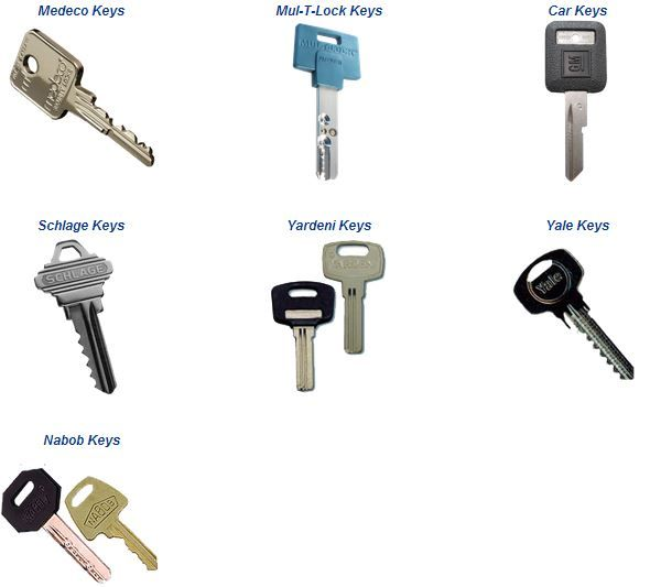 chicago locksmiths cuts and duplicates various key types including  car and high