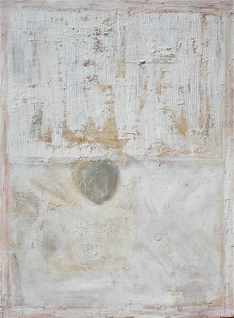 """Rose Minetti 2010  Ode to Robert Ryman  oil and wax on canvas  40""""x 30"""""""