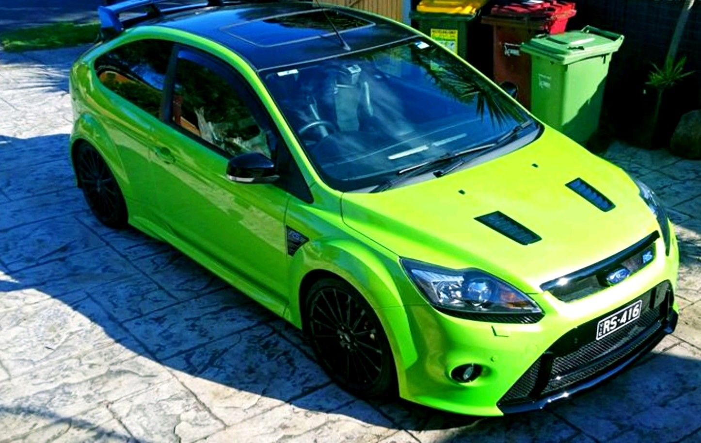 Blacked Out Roof And Factory Fitted Sunroof Ford Focus Focus Rs Ford Focus Rs
