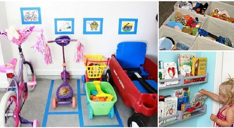 des astuces pour organiser les jouets des enfants et. Black Bedroom Furniture Sets. Home Design Ideas