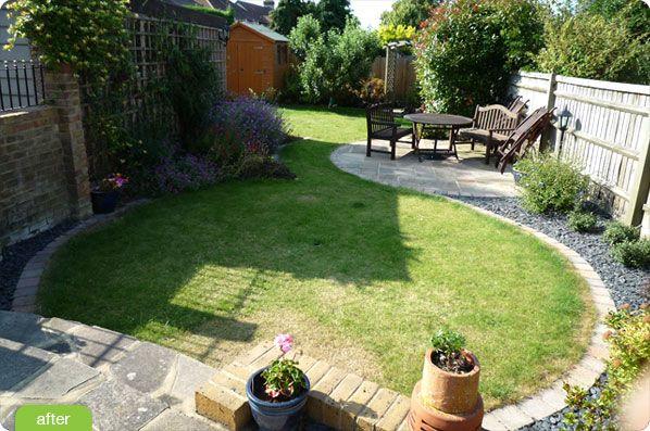 Elegant Small Yard Landscape Where Line Of Lawn Edging 400 x 300