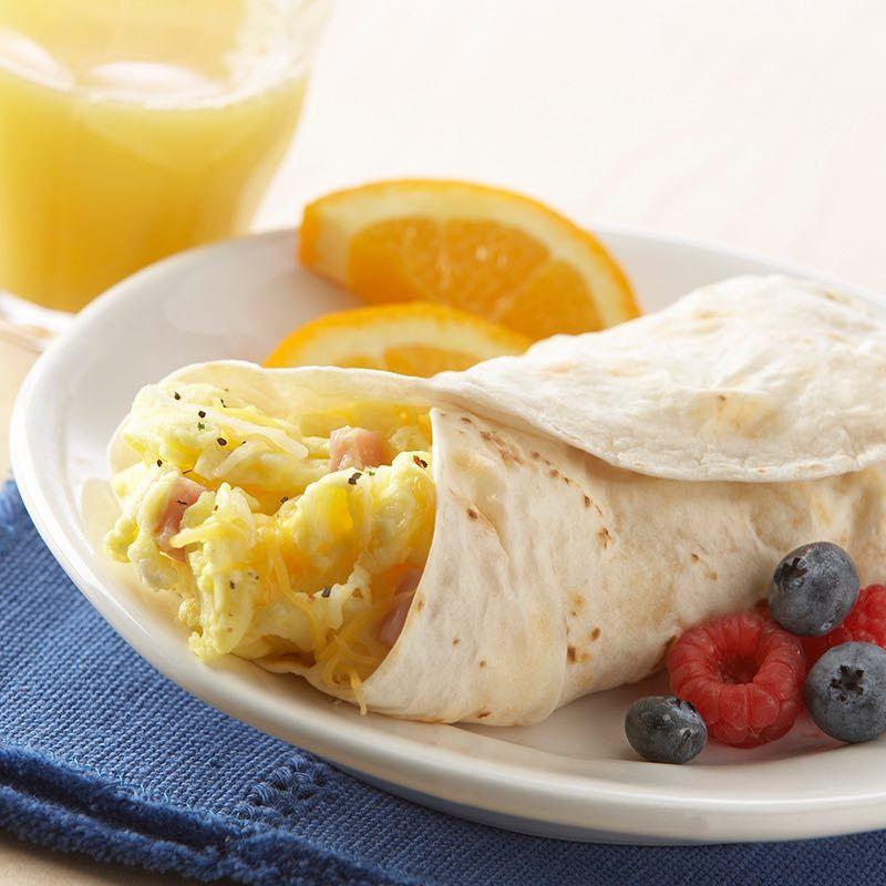 Ham And Avocado Scramble Recipe: Ham & Cheese Breakfast Burritos