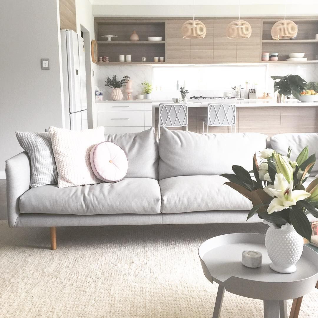My New Onyxandsmoke Round Blush Cushion Was Delivered Today Thanks So Much Love It Interiors Inte Living Room Sofa Home Living Room Open Plan Living Room