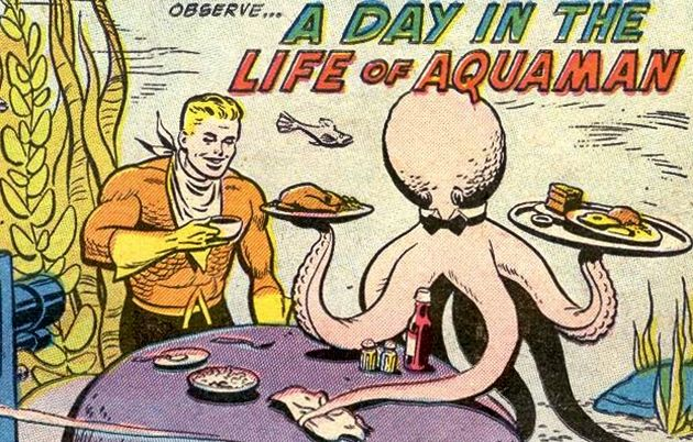 How does aquaman drink coffee underwater?