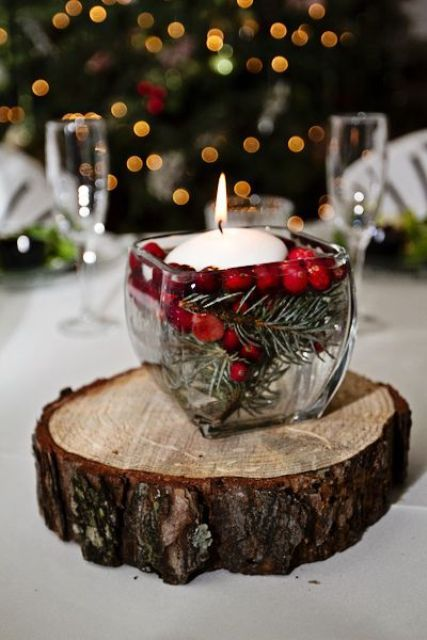 36 Awesome Cranberry Ideas For Winter Weddings Christmas Wedding Centerpieces Rustic Winter Wedding Winter Wedding Centerpieces