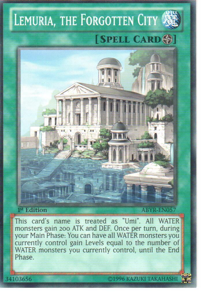 0 99 GBP - Yu-Gi-Oh: Lemuria, The Forgotten City - Abyr-En057 - 1St