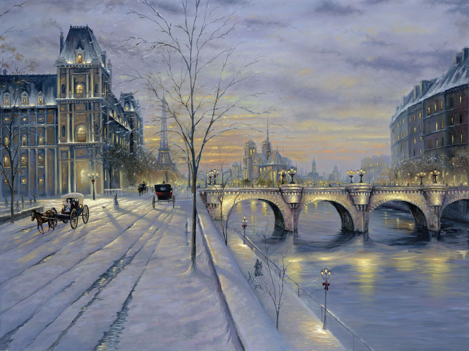 Find Best Value And Selection For Your Snow Forest Castle Decoration Oil Painting Art Hd Printing On Canvas 24 32 Winter Painting Winter Landscape Paris Winter