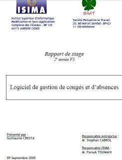 Téléchbarger Le Rapport De Stage La Gestion Des Congés Gestion Des