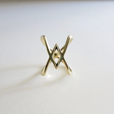 """The """"XX"""" Ring in size 6  Found in Fort Mason at craft fair   http://www.alibinyc.com/xx-ring/"""