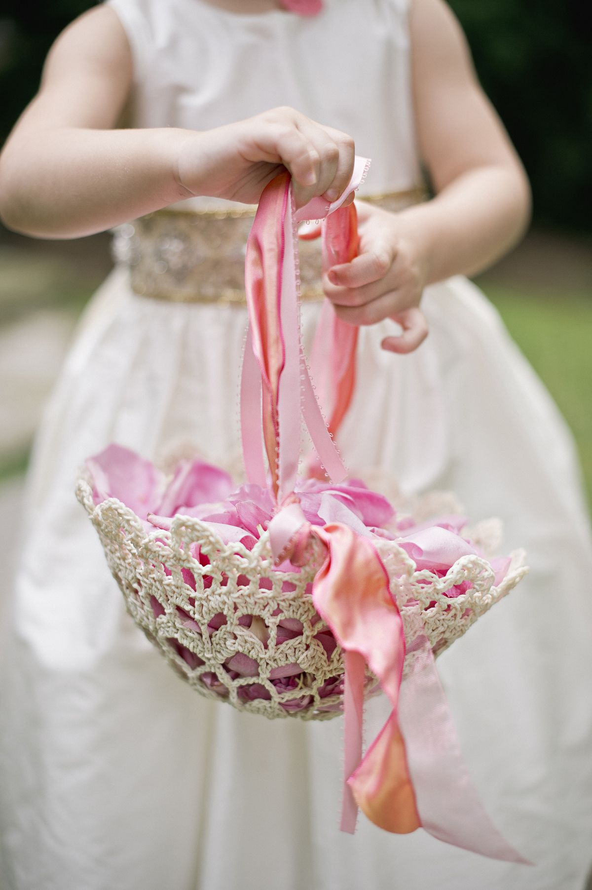 Kalen + Parks | Crochet, Flower girl basket and Flower