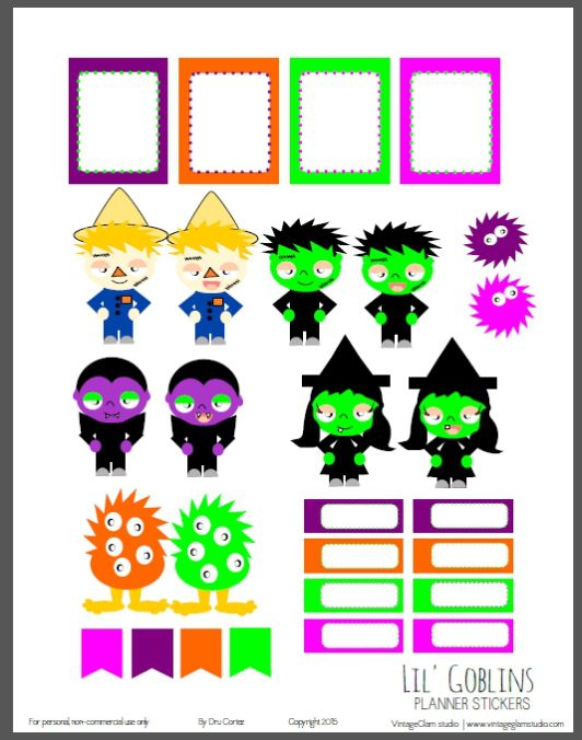 Halloween Planner Stickers Add On - Free Printable Download