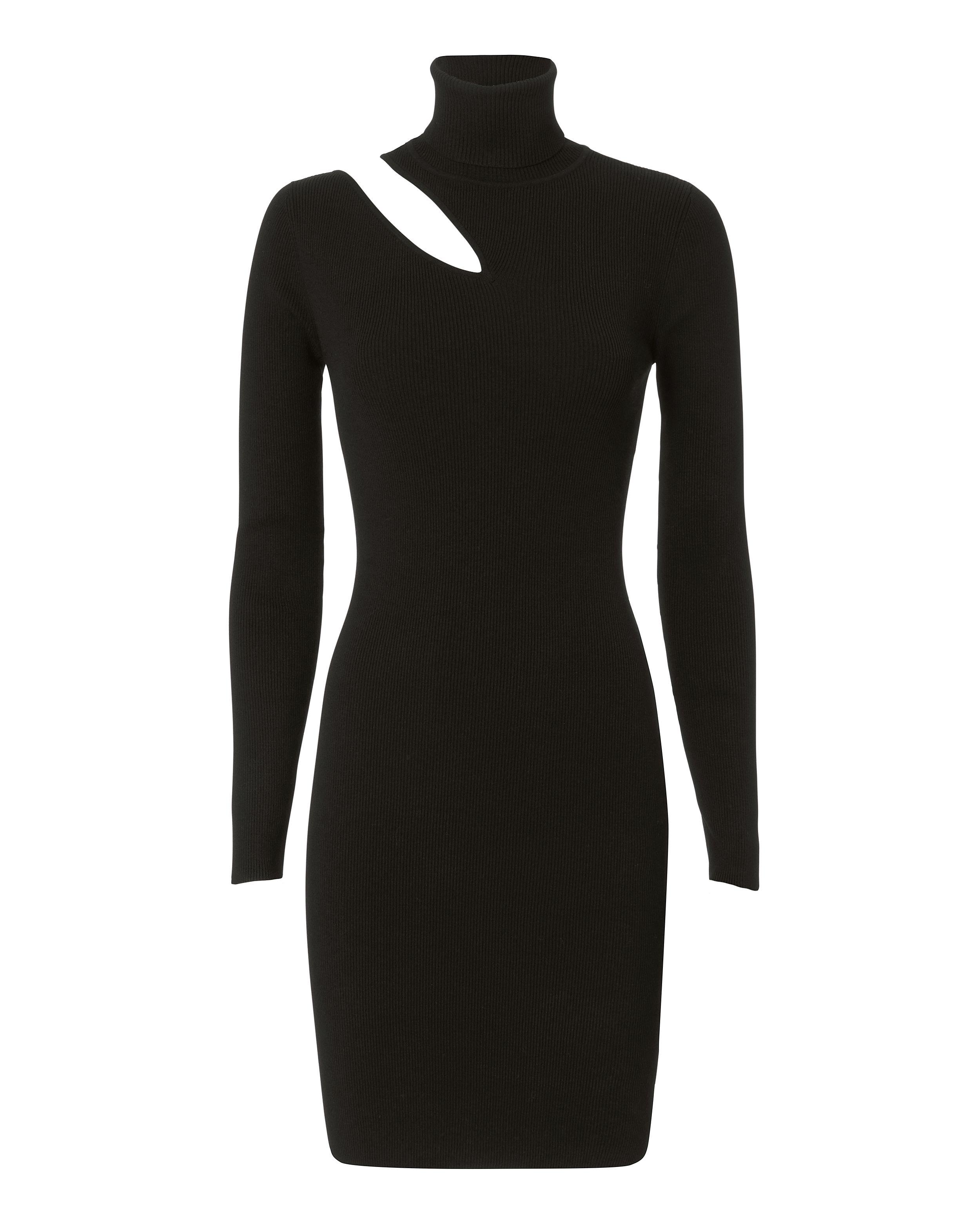 West Dress Cutout Black Turtleneck Dress In 2021 Fit Sweater Dress Turtle Neck Dress Black Turtleneck [ 3124 x 2500 Pixel ]
