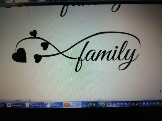 Infinity Symbol Tattoo Family Tattoos Pinterest Symbols