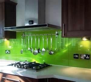 lime green modern kitchen plexiglass backsplash - Bing ...