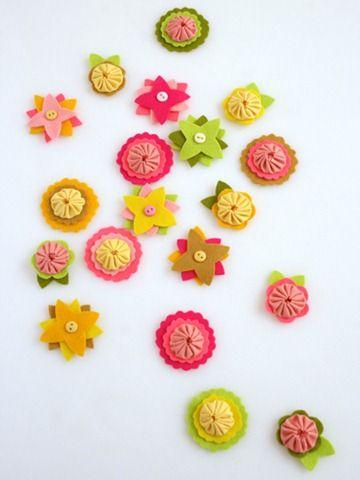 Criar com Tecidos: Florinhas