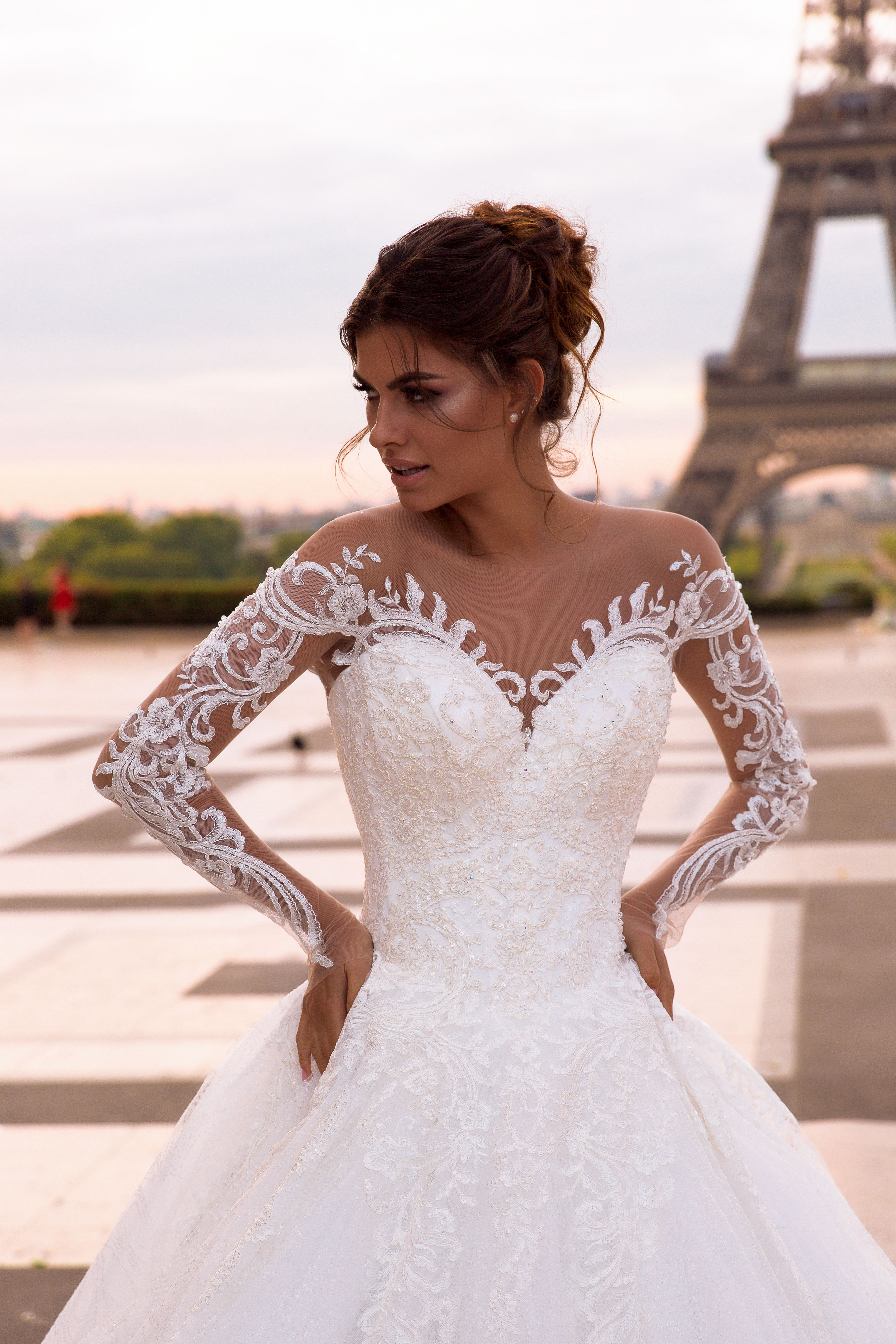 Regina Wedding Dress In 2020 Wedding Dresses Illusion Wedding Dress Satin Girls Dress