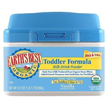 Earth S Best Organic Toddler Formula Vanilla Powder 23 2oz Earth S Best Baby Formula Formula Milk