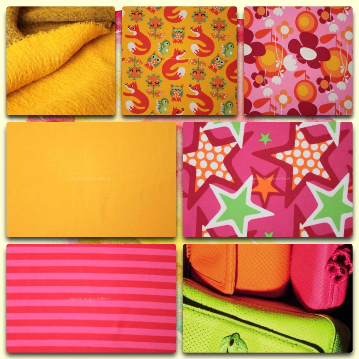 Neon; color your life! www.suz-designerstoffen.nl