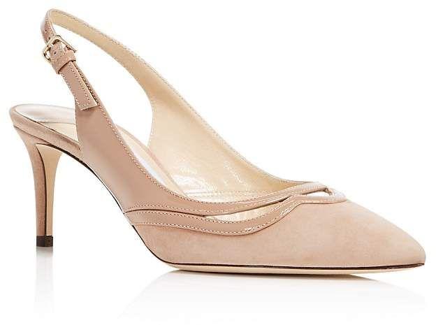 Jimmy choo Women's Harrison 65 Suede & Patent Leather Slingback Mid Heel Pumps k5yJ6Xh