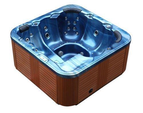 Outdoor Whirlpool Hot Tub Troy Spa With 44 Massage Amazon Co Uk Electronics Limpieza Masaje Iluminacion