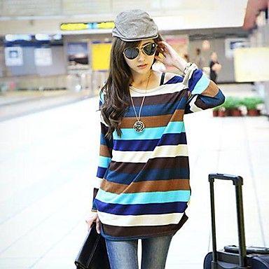 cinco colores de las mujeres combinan larga camiseta de manga – MXN $ 79.50
