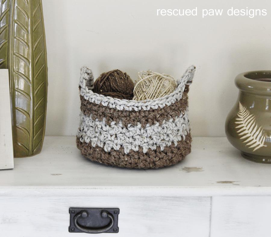Crochet Basket Pattern | Cestas y Trapillo