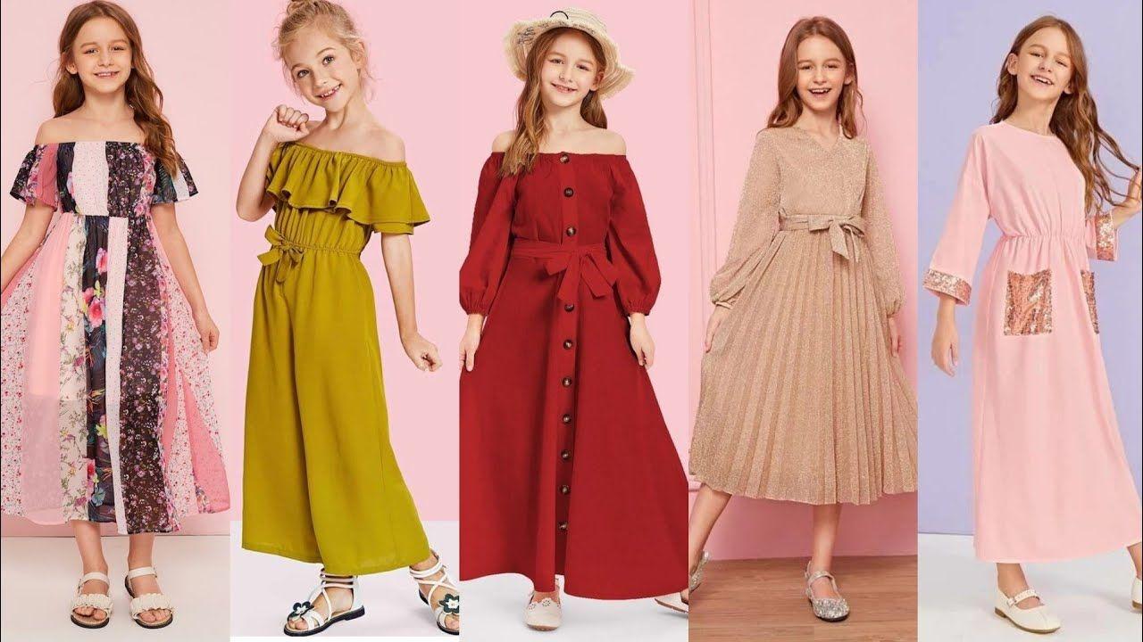 جديد ملابس أطفال بنات لربيع و صيف 2020 ملابس العيد للبنات فساتي Hijabi Fashion Casual Dresses Fashion