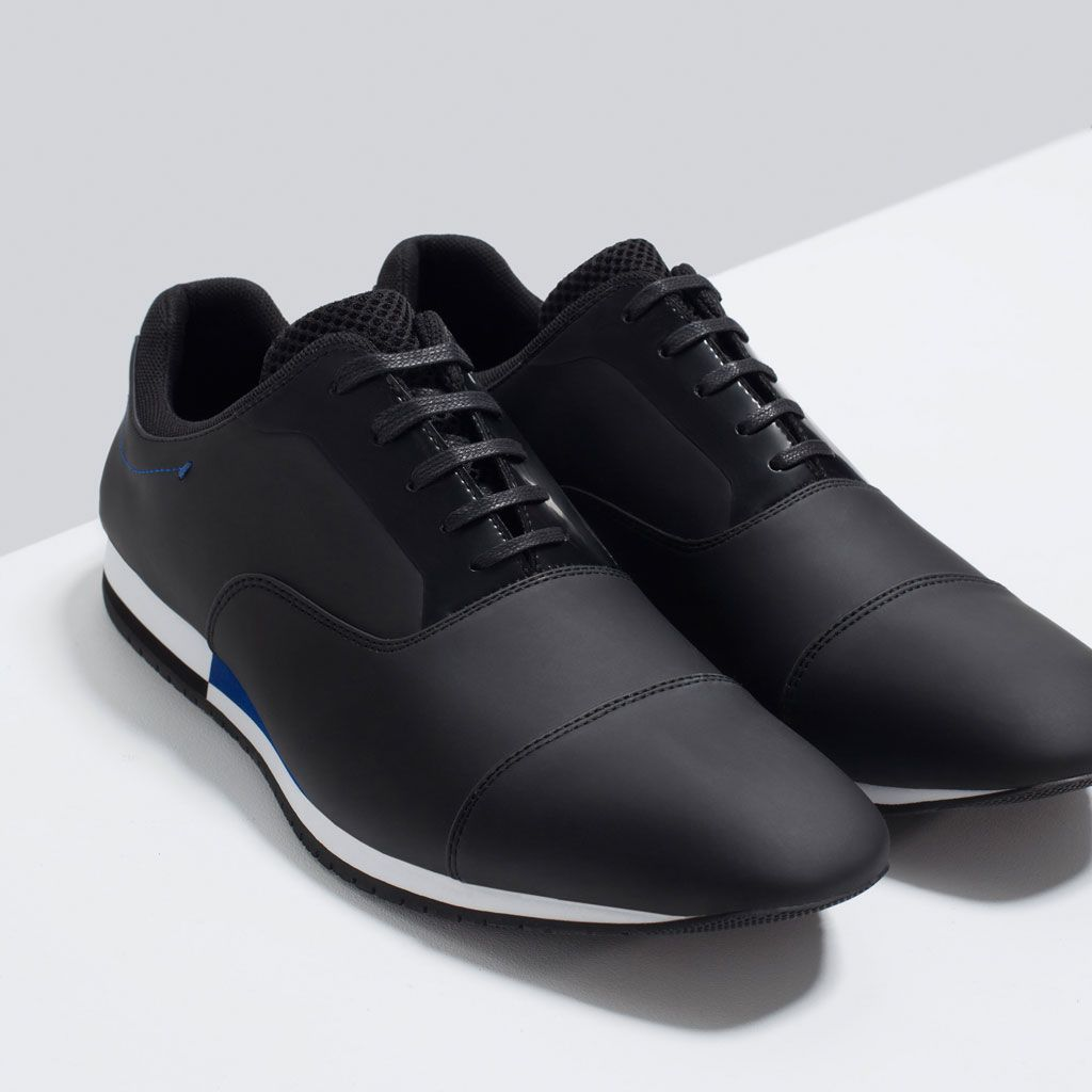 ZARA - MAN - CASUAL CONTRAST LACE-UPS SHOES | Men shoes ...