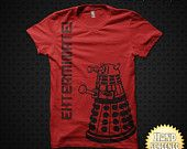 Dalek Exterminate v2 Screen Printed Unisex Tee. 7 Colors Available, Printed With Eco Friendly Water-Based Ink On Lightweight Tees.. $10.00, via Etsy.