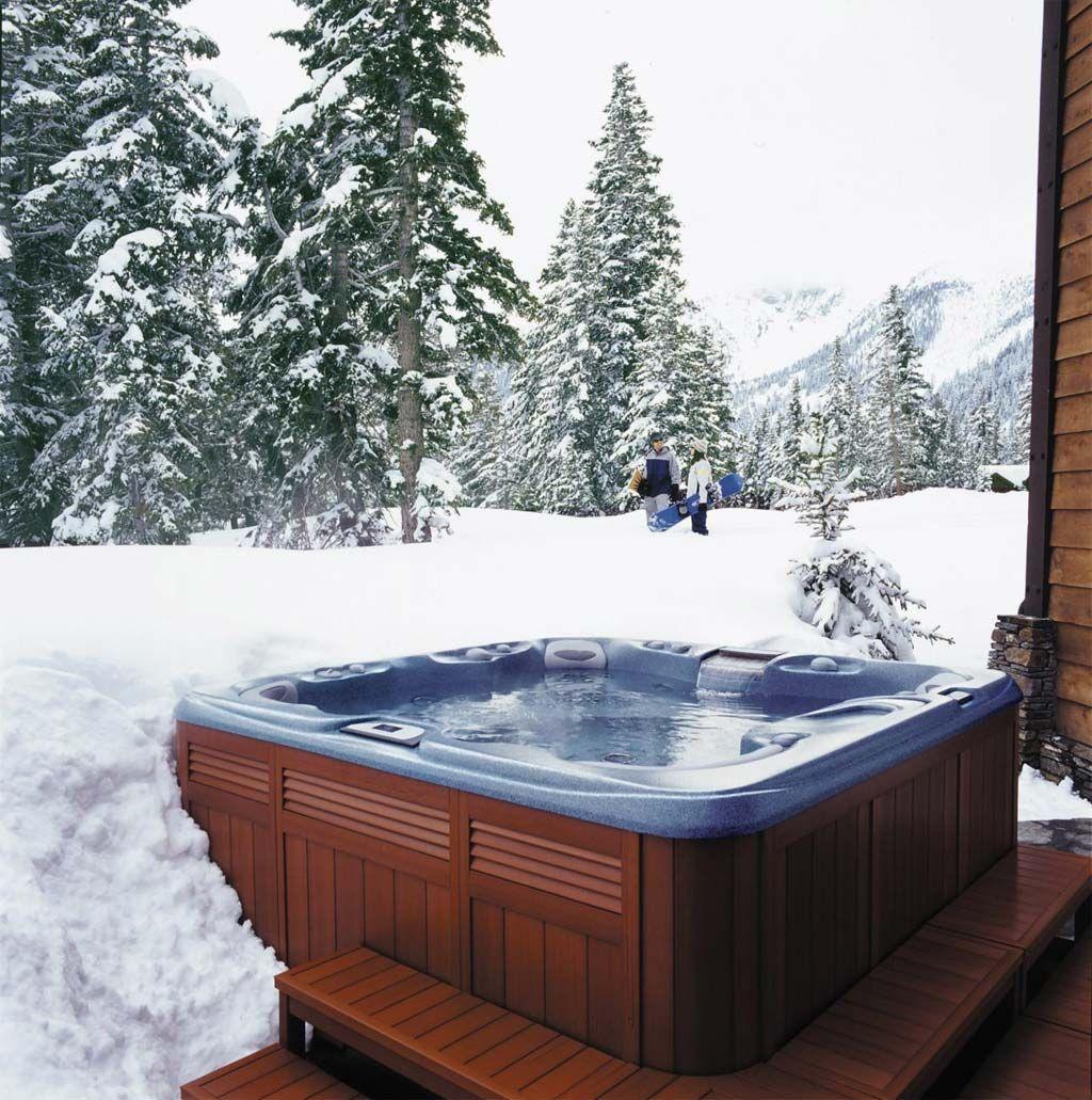 Ski All Day Spa All Night Hot Tub Backyard Cabin Hot Tub Hot Tub Outdoor