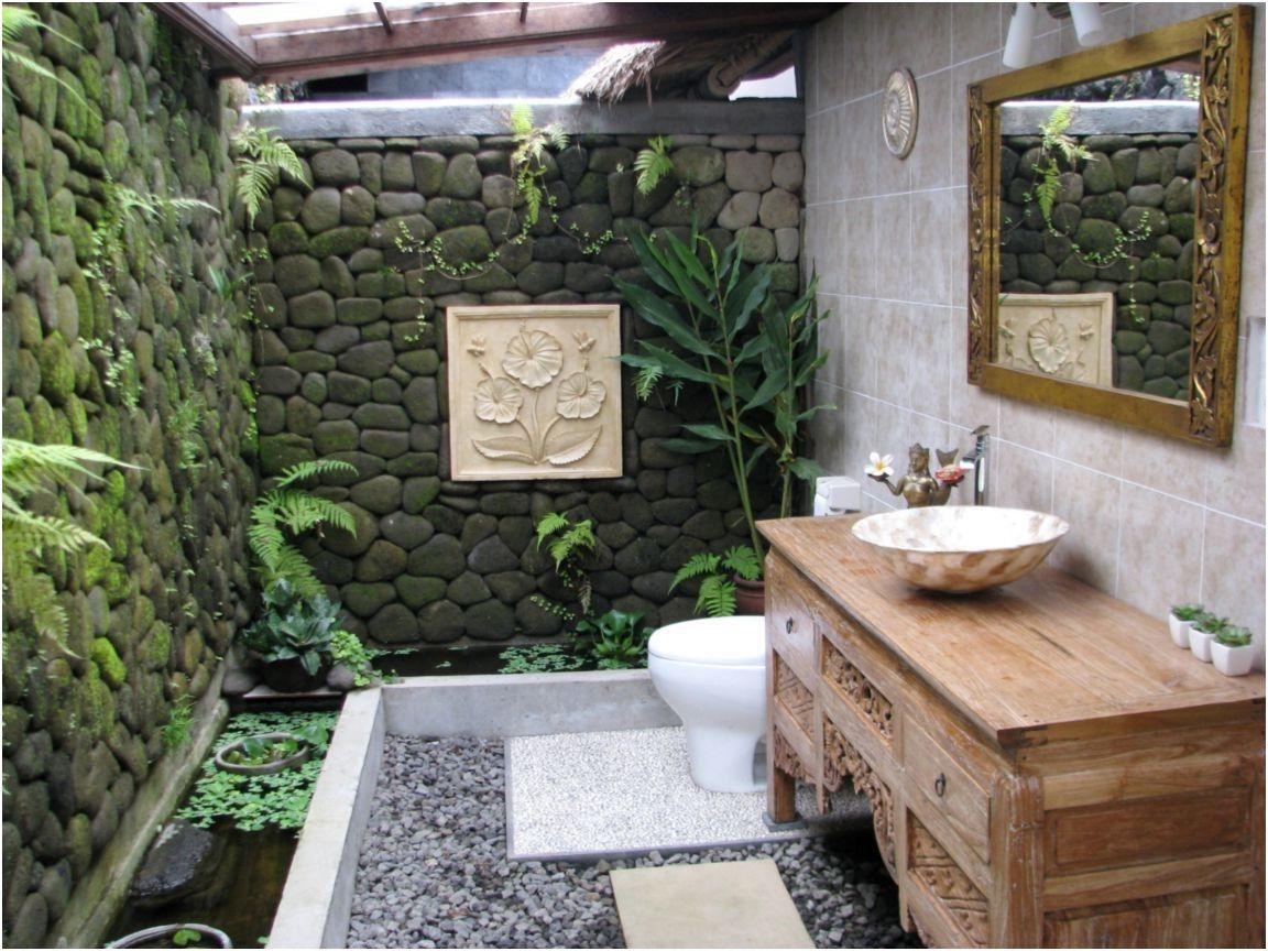 135 Ways To Make Any Bathroom Feel Like An At Home Spa Outdoor From Outdoor Bathroom Design Outdoor Bathroom Design Zen Bathroom Decor Outdoor Bathrooms Fish bathroom decorating ideas