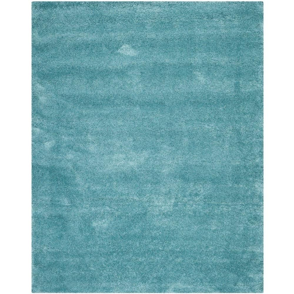 Outdoor Teppich Qvc Safavieh Milan Shag Aqua Blue 9 Ft X 12 Ft Area Rug