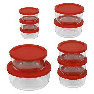 Pyrex 20 Pc Storage Plus Set Glass Storage Containers Glass