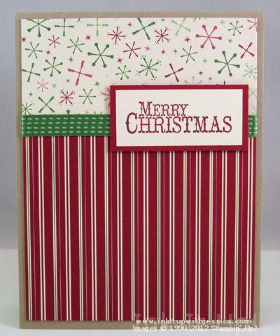 Handmade Christmas Cards with Pretty Papers Handmade christmas