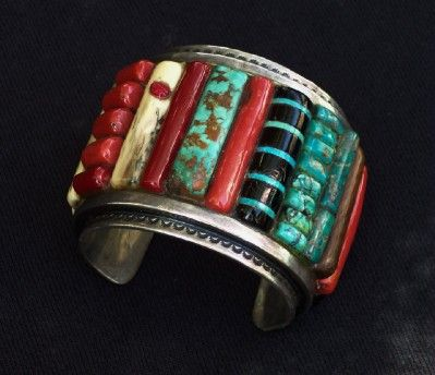 Charles Loloma style inlaid bracelet |Pinned from PinTo for iPad|