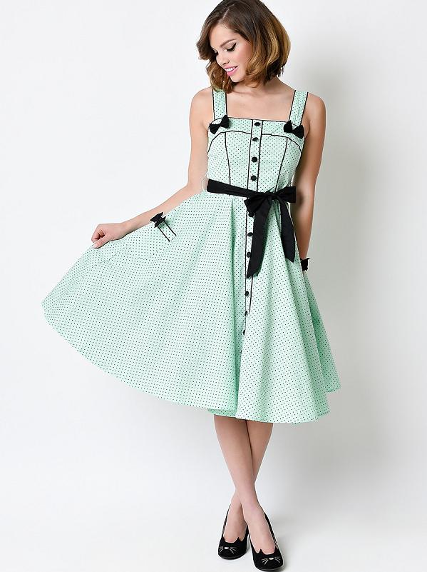 8f7ae0356414 Rockabilly tøj - køb dit retro tøj her! Hell Bunny Martie 50´s Dress Mint.  Hell Bunny Martie 50´s Dress Mint Retro Pin Up