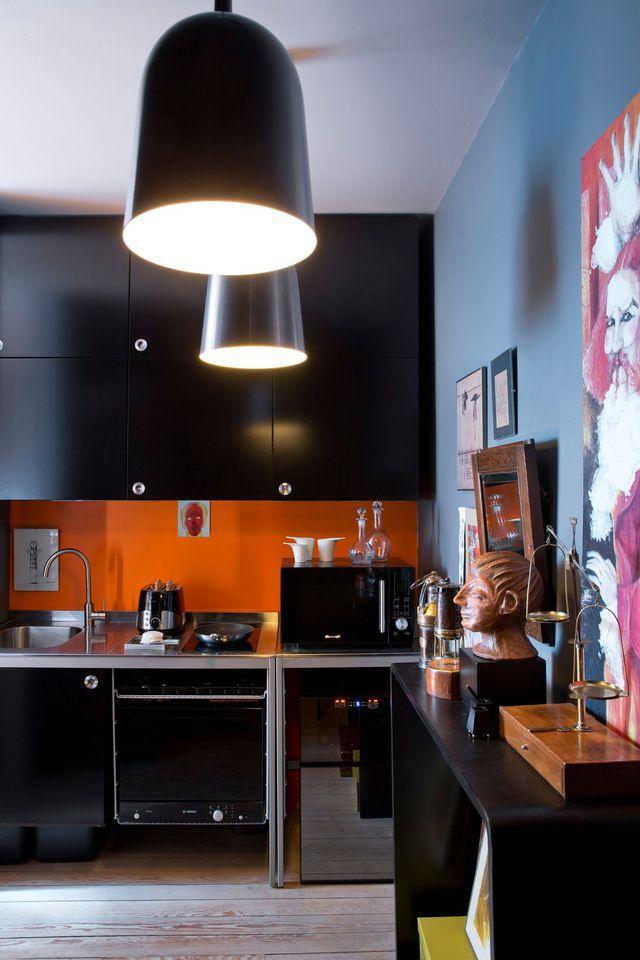 Cuisine Noire Des Photos Déco Pour Sinspirer Cuisine Noir - Cuisine cote maison pour idees de deco de cuisine