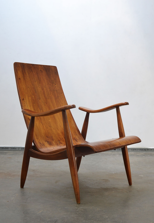 Anonymous; Teak Lounge Chair, 1950s.