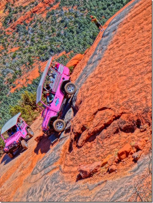 Photography Down Hill From Here Sedonasony Pink Jeep Best