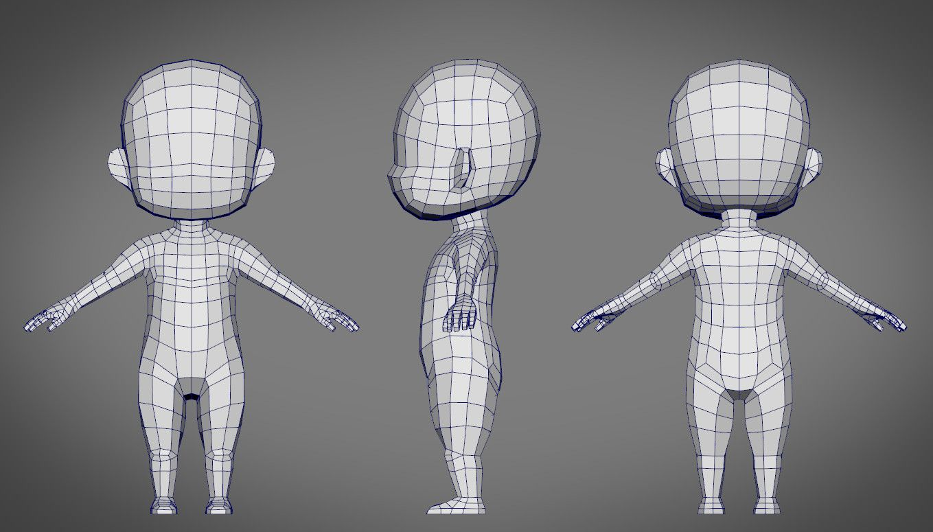 Male Character Modeling In Blender : Male sd character base d obj a 未分类 pinterest