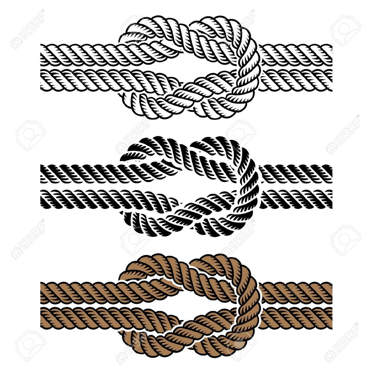 Rope knot tattoos google search tattoo pinterest for Rope designs and more