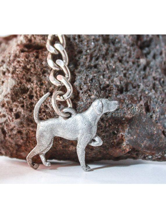 ENGLISH POINTER Dog Fine Pewter Keychain Key Chain Ring
