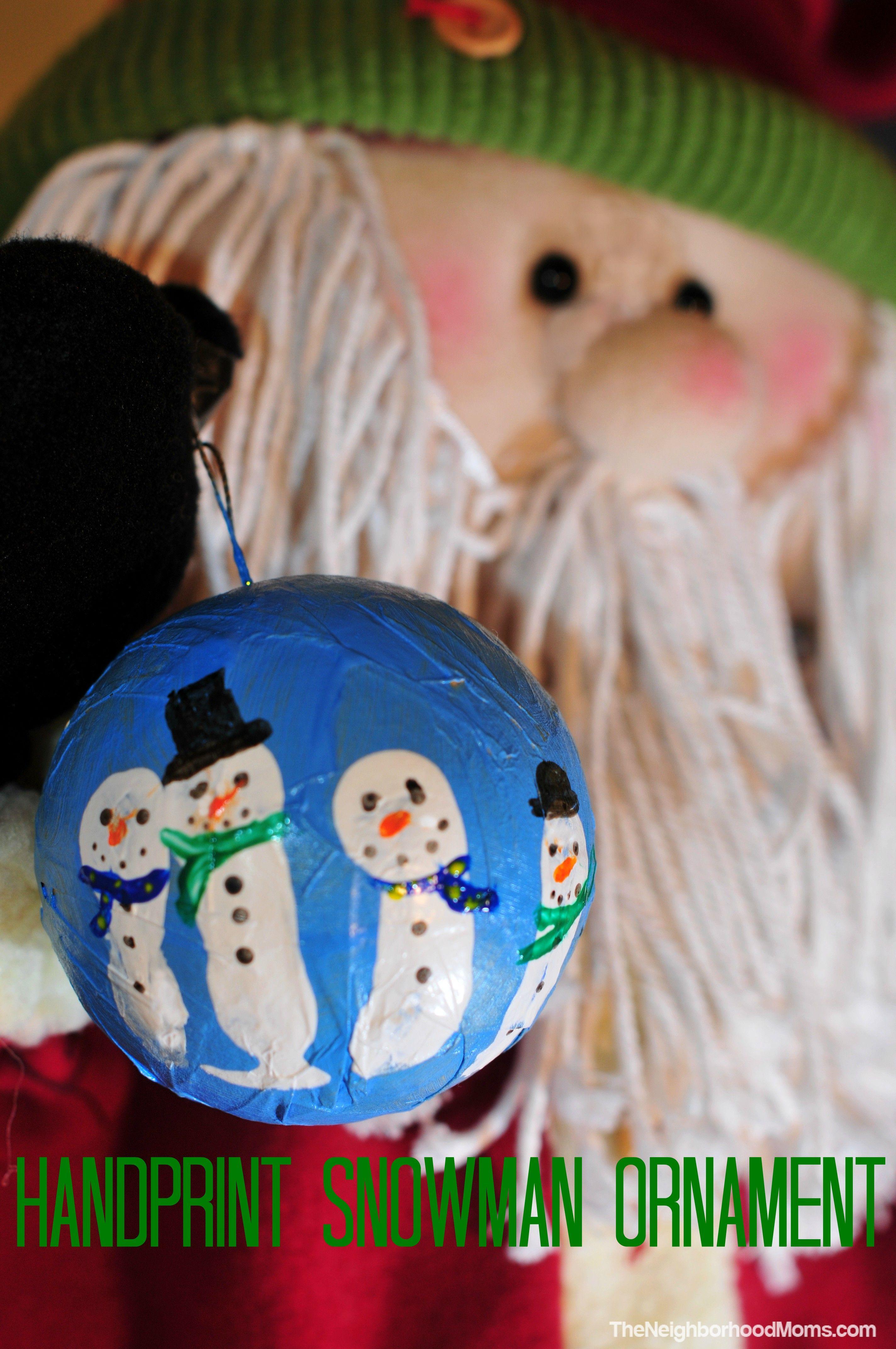 Handprint Snowman Ornament Christmas Cards Kids Christmas Classroom Homemade Kids Crafts