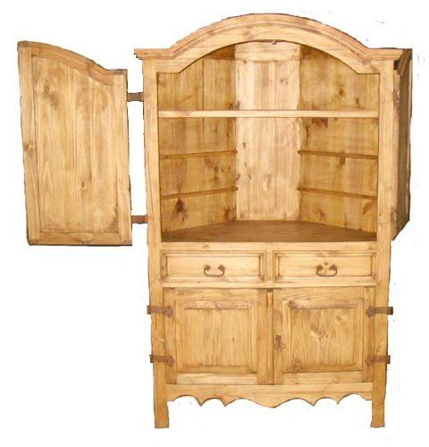 San Miguel Rustic Corner Armoire By San Carlos Imports, Http://www.