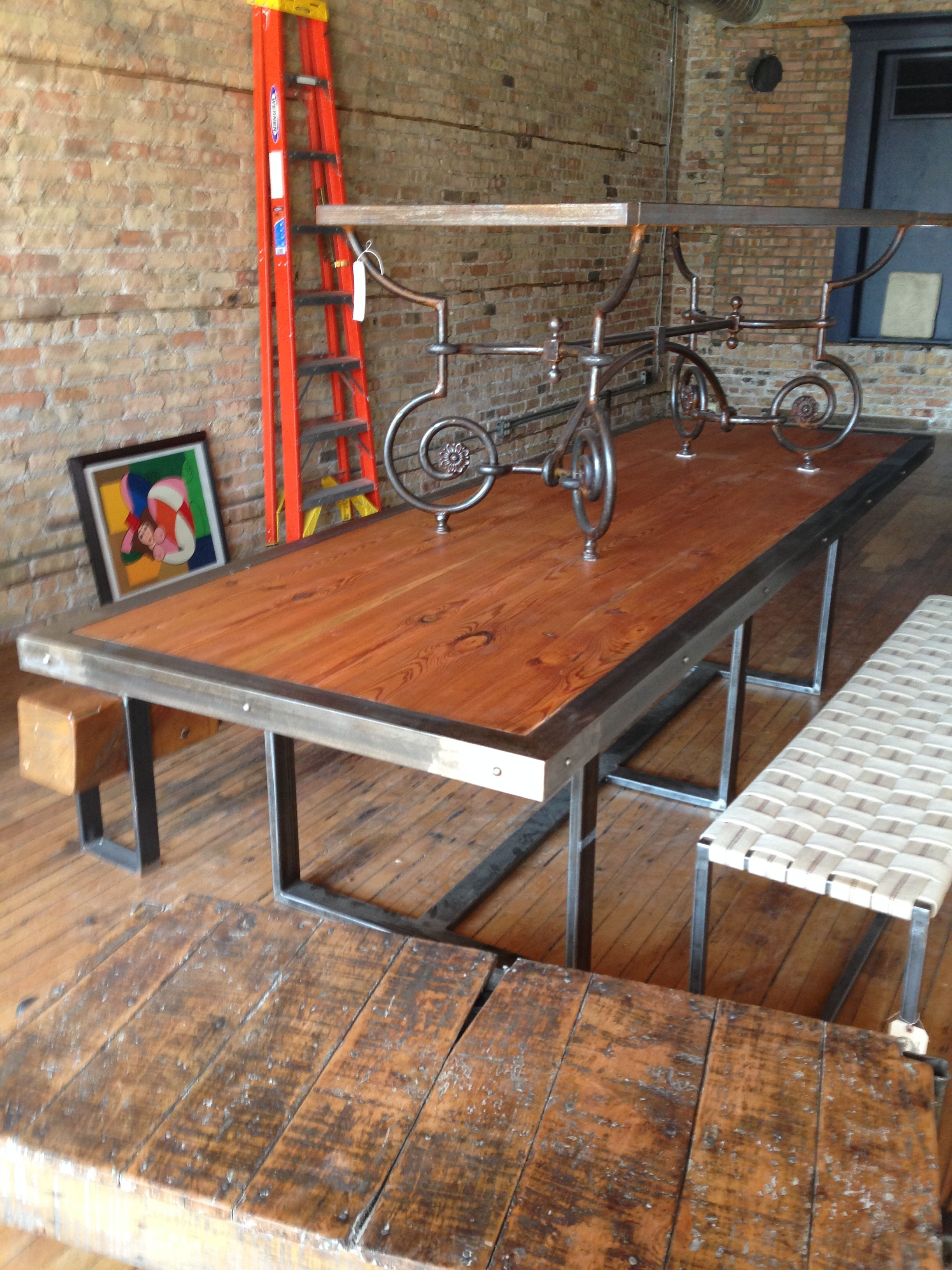 Now Thatu0027s A Dining Table! Old Bowling Alley Lanes Wood Victory Lane  Salvage Company In