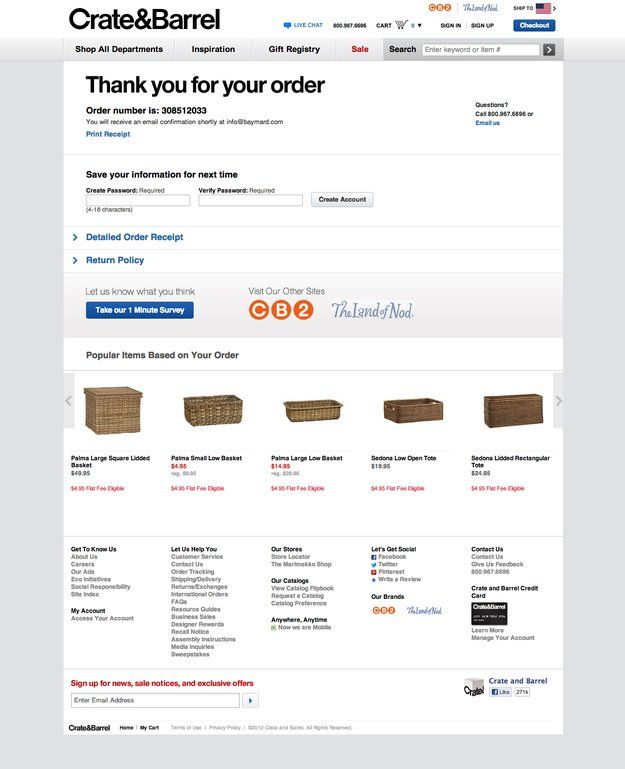 How To Make Your Thank You Page An Upsell Page Crate And Barrel Make It Yourself Inspirational Gifts