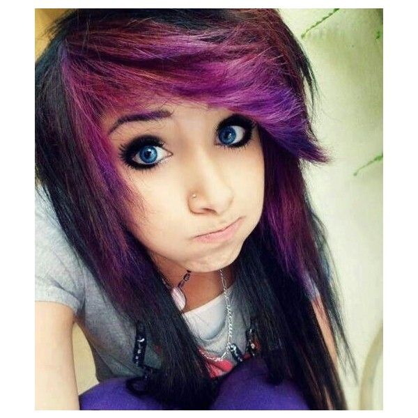Emo Eye Makeup For Girls liked on Polyvore featuring hair ...