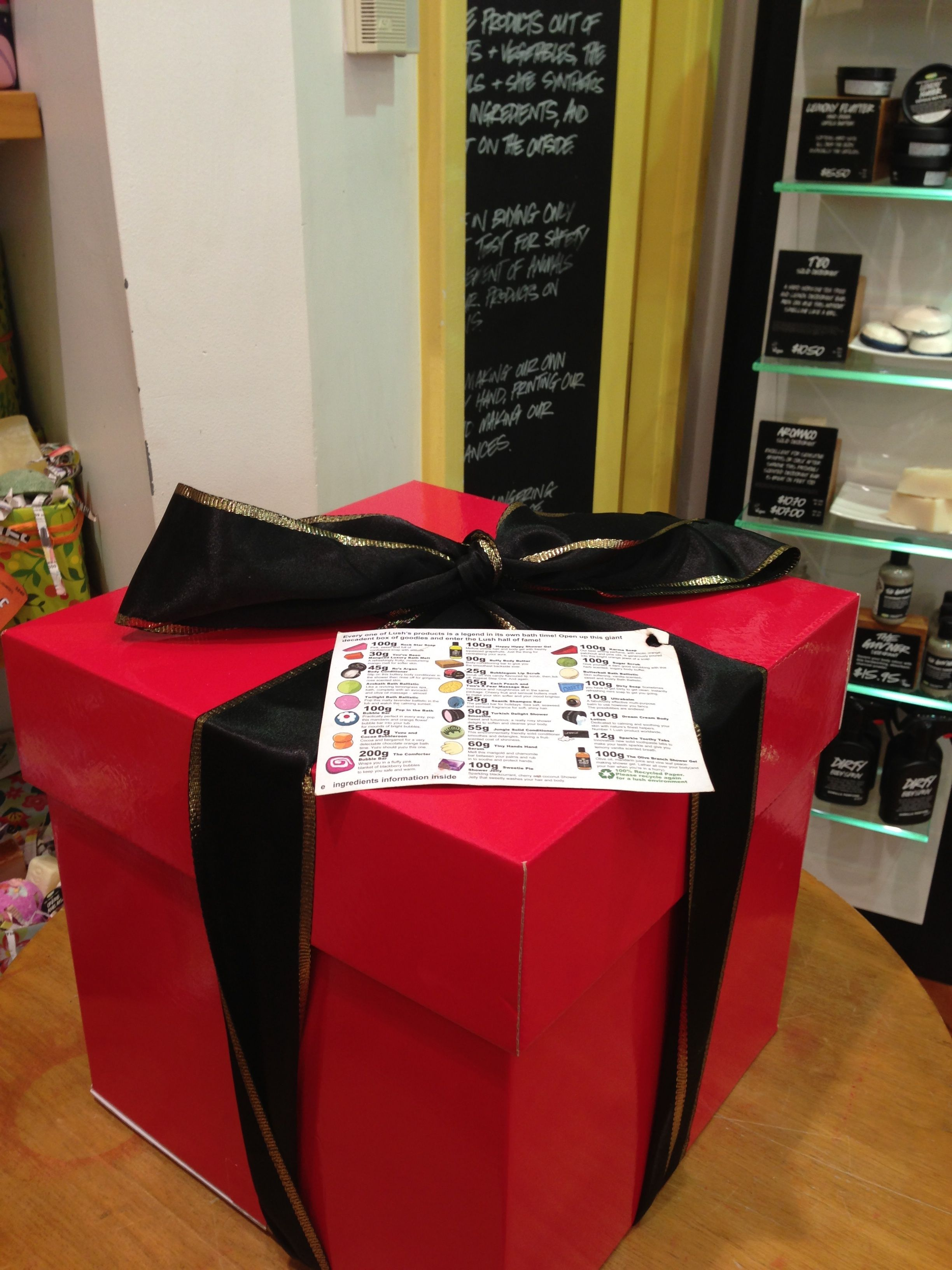 Tracy, Lush. Deluxe box ful of Lush goodies, $250.00 ...